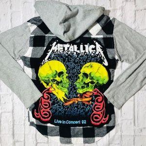 Custom Metallica Rock Band Tee & Hooded Flannel